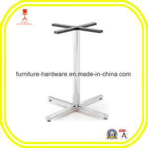 Furniture Hardware Parts Restaurant X Style Table Base Leg Aluminum pictures & photos