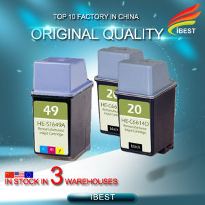 Compatible HP C6614 (20) Black HP 51649A (49) Color Remanufactured Ink Cartridge pictures & photos