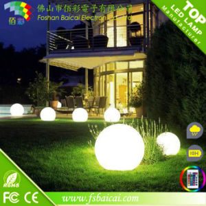 Wholesale Clear Plastic LED Solar Ball Light for Garden pictures & photos