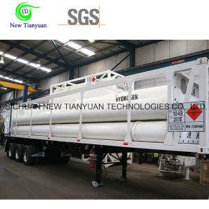 8-Tube Container Hydrogen Medium Semi-Trailer pictures & photos