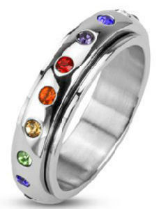 Shineme Jewelry Colorful Zircon Stainless Steel Jewellry Ring pictures & photos