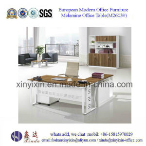 China Office Furniture MFC Office Desk with Metal Legs (M2603#) pictures & photos