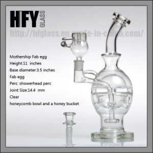 Glass Water Pipe in Stock Mothership Glass Faberge Egg Smoking Fab Egg DAB Rig Recycler Hookah Oil Rig pictures & photos