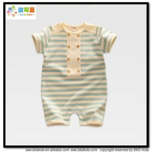 Summer Short Baby Clothes Stripe Printing Baby Rompers pictures & photos