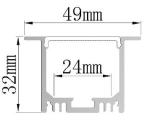 Vs4932 Recessed LED Extrusion Linear Light LED Profile pictures & photos