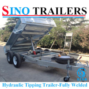 10X6 Galvanised Fully Welded Hydraulic Tipping Trailer