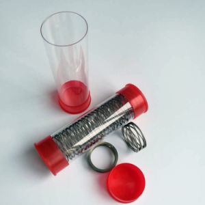 Clear Packaging Plastic Tube Whit Caps
