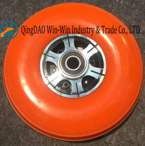 Flat-Free PU Wheel with Colorful PU Part (3.00-4) pictures & photos
