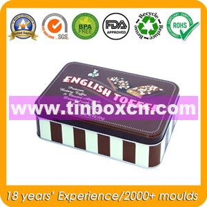 Metal Rectangular Container for Gift, Promotional Tin Box pictures & photos