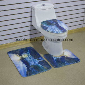 Hot Selling Waterproof and Non-Slip Floor Bath Mat 3-Piece Bathroom Mat Set pictures & photos