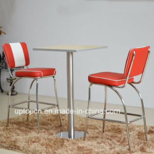 (SP-CT846) 1950s Red and White Leather Dining Restaurant Furniture pictures & photos