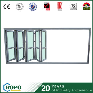 Collapsible Partition PVC Laminated Glass Accordion Door pictures & photos