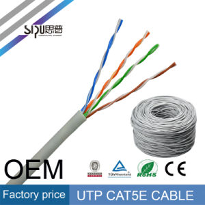 Sipu Factory Price UTP Cat5e LAN Cable with PVC Jacket pictures & photos