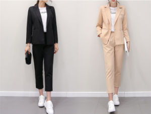 Fashion Leisure Ladies Suits Tailored Woman Work Suits pictures & photos