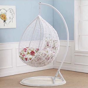 High Quality Hanging Chair SGS PE Rattan & UV Resistant Fabric Cushion Swing Chair pictures & photos