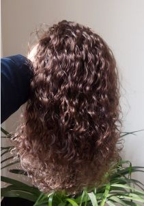100% European Natural Wavy Remy Virgin Human Hair Wig Curly Lace Wig pictures & photos