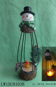 Christmas Statue Candle Holder Furniture for Home Decoration pictures & photos