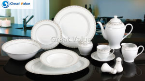 49PCS Round Shapr Ceramic Dinnerware Hot for Home for Market United States pictures & photos