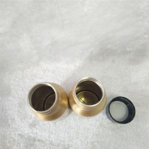 30ml Gold Aluminium Water Bottle with Black Plastic Cap pictures & photos