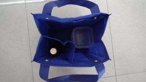 Non Woven Shopping Bag with Wine Holder for Supermarket pictures & photos