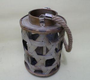 Metallic Paint Antique Chinese Bamboo Weaving Natural Environmental Elegant Lanterns