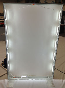 Custom Silicone Edge Graphics with Backlit Lightbox Displays pictures & photos