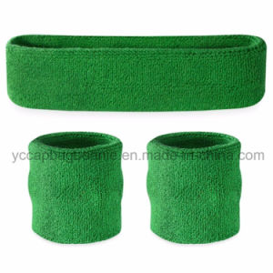 Promotional Sport Terry Cotton Headband Sweatband Sets pictures & photos