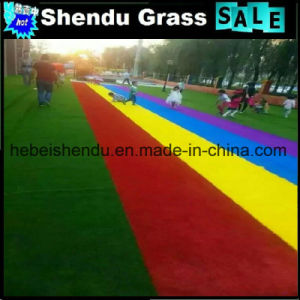 Decorative Color Synthetic Turf for Playground pictures & photos