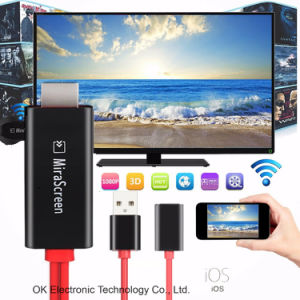 Ezcast Wire Mirascreen Cable WiFi Display Ez Cast Dongle for Ios pictures & photos