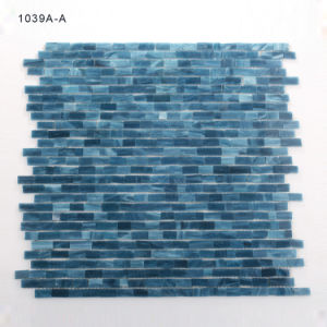 Environmentally Building Material Blue Backsplash Glass Tile Mosaic pictures & photos