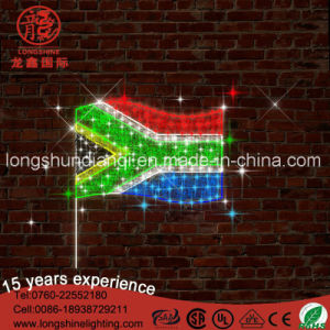 LED South Africa Flag National Motif PVC Glue Light for Outdoor Building Park Pole Street pictures & photos