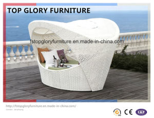 Wicker Daybed Outdoor Sun Bed Chaise Lounge Day Bed (TGLU-03) pictures & photos