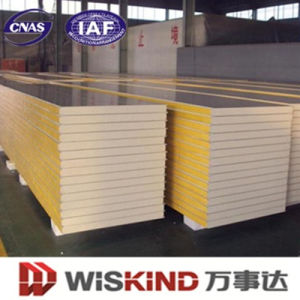 Color Spar Serial Energy-Saving PU Sandwich Panel, Cold Storage PU Sandwich Panel pictures & photos
