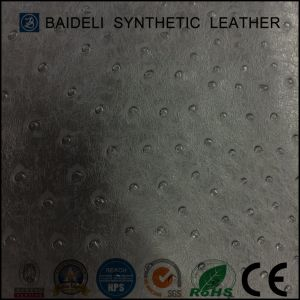 Ostrich PU Synthetic Leather for Garment and Bags with Fire Resistance pictures & photos