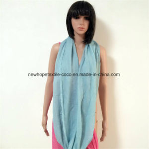 100% Polyester Viscose Material Burnout/Wrinkled Loop/Long Style Scarf pictures & photos