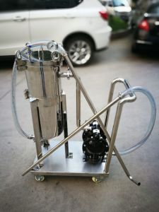 Stainless Steel Bag Filter Housing with Pump for Water pictures & photos
