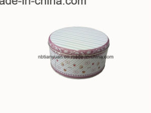 Circular Iron Boxes Small Metal Tin Boxes Supplier pictures & photos