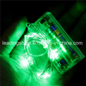 Green Copper String Fairy Light Battery AA Operated for Home Holiday Christmas Decoration pictures & photos