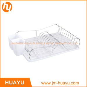 Chrome Plated Dish Rack with Drain Board and Cutlery pictures & photos