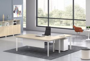 White Customized Metal Steel Office Executive Desk Leg with Ht101-2 pictures & photos
