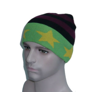 Multicolor High Quality Pentagram Knitted Hat pictures & photos