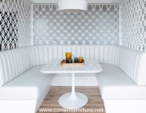 White Luxury Restaurant Hotel Round Coffee Table pictures & photos