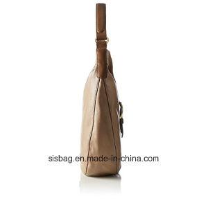 Designer Stitching Hobo Bag Contrast Color PU Shoulder Bag pictures & photos