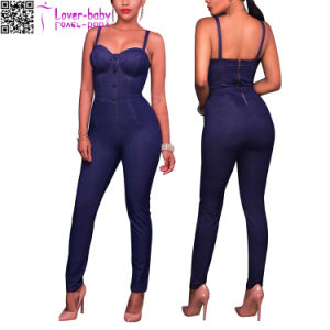 Cammi Denim Sexy Lady Playsuits and Jumpsuits (L55334) pictures & photos