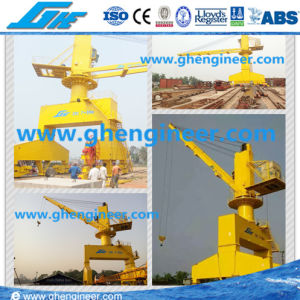 Hydraulic Remote Control Grab Ship Deck Crane pictures & photos