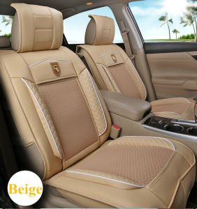 Car Seat Cover Flat Shape Cushion with Inclined Cross Leather pictures & photos