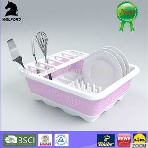 Hot Selling Dishwasher Safe High-Grade Collapsible Dish Rack pictures & photos