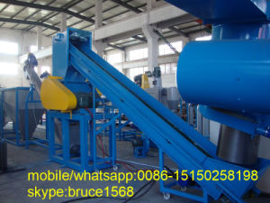 Plastic Pet Bottle Scrap Flakes Recycling Crushing Washing Drying Machine Line pictures & photos