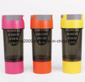 PP Material Leak-Proof BPA Free Protein Power Plastic Shaker with 3 Layers pictures & photos