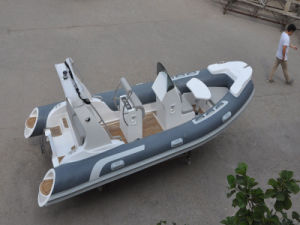 Liya 17FT Best Sale Rib Boat for Fun Small Inflatable Fiberglass Hull Rib Boat (HYP520D) pictures & photos